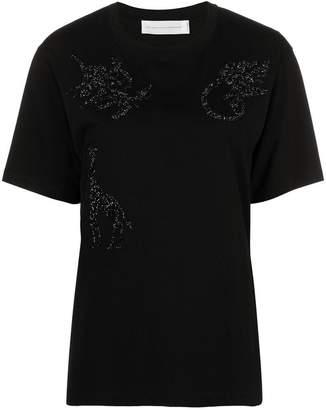 Victoria Beckham Victoria bead embellished safari T-shirt
