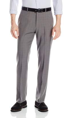 Perry Ellis Men's Travel Luxe Modern Fit Windowpane Plaid Pant