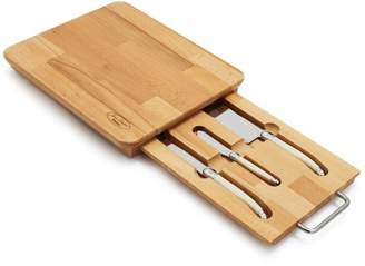 Laguiole Dubost Cheese Set in Board, 3 pcs.