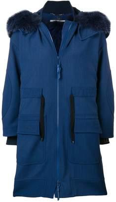 Fendi hooded parka coat