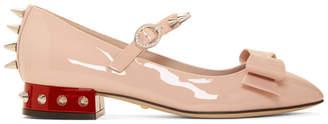 Gucci Pink Patent Sadie Spike Ballerina Flats