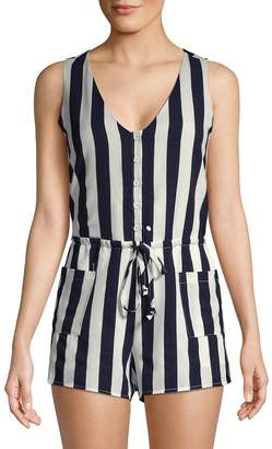 Lucca Couture Women's Amber Striped Sleeveless Romper