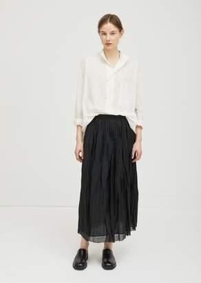 Pas De Calais Linen Skirt Black