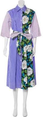 Diane von Furstenberg Printed Shirt Dress w/ Tags