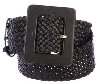 Saint Laurent Braided Leather Belt