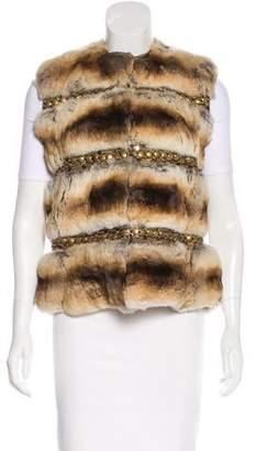 Fur Embellished Chinchilla Vest