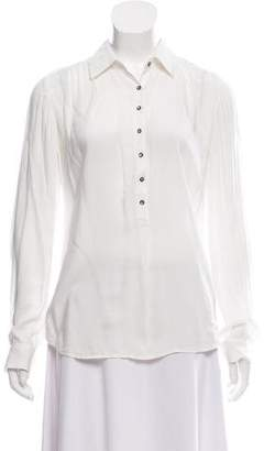 L'Agence Long Sleeve Button-Up Blouse
