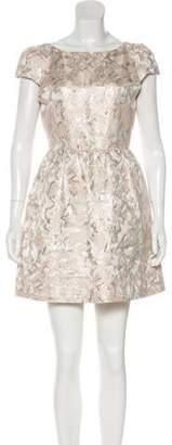 Alice + Olivia Brocade Cocktail Dress