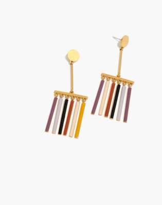 Madewell Enamel Rainbow Fringe Earrings