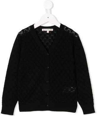 Bonpoint textured knit buttoned cardigan