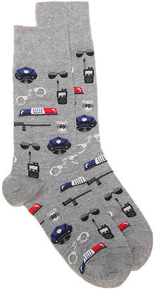 Hot Sox Police Crew Socks - Men's