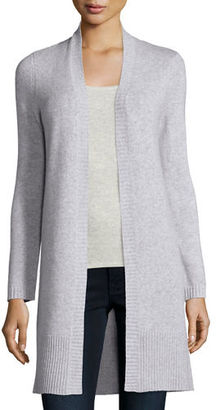 Neiman Marcus Cashmere Collection Long Rib-Trimmed Open-Front Cashmere Cardigan $295 thestylecure.com
