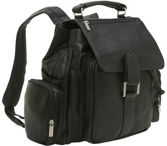 Le Donne Leather Multi-Pocket Backpack