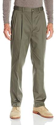 Louis Raphael s Men's Pleated Cotton Blend Pant Comfort Waistband