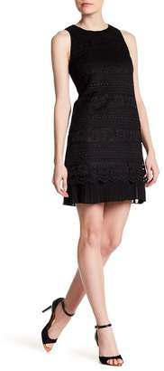 Cynthia Steffe CeCe by Bianca Static Lace Pleat Detail Dress