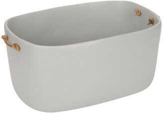 Tina Frey Designs - Storage Basket with Leather Handles - Cement