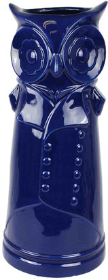 Sagebrook Home Blue Owl Ceramic Umbrella Stand