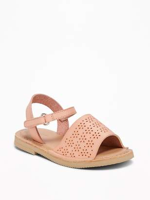 Old Navy Perforated Wide-Strap Sandals for Toddler Girls
