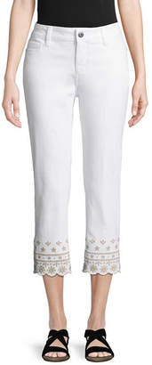 ST. JOHN'S BAY Embroidered Cropped Pants