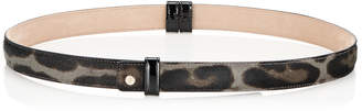 Jimmy Choo BLY S Smoke Leopard Print Pony Belt