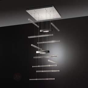 Designer-Hängeleuchte Explo mit Murano-Glas