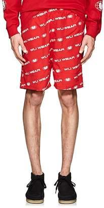 Wu Wear Men's Logo Tech-Faille Shorts