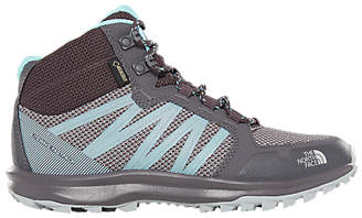 The North Face Litewave Fastpack Mid GTX Women's Hiking Shoes, Blackened Pearl/Aqua