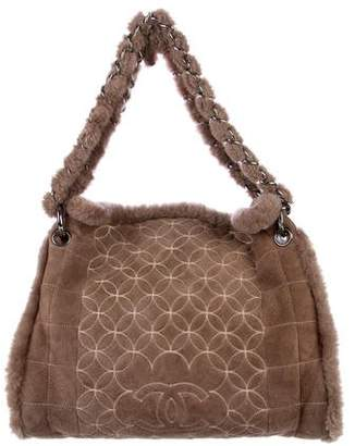 Chanel Quilted Shearling Tote