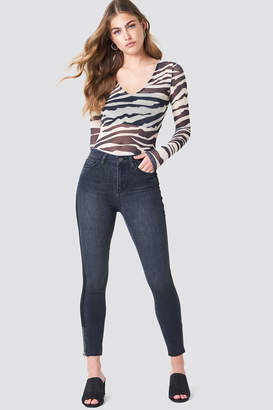 Trendyol High Waisted Zip Jeans