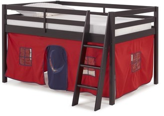LOFT Alaterre Roxy Junior Bed with Red and Blue Tent, Espresso