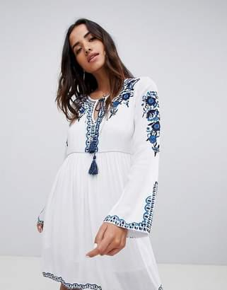Raga Mediterranean Embroidered Tunic Dress