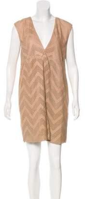 Drome Suede Laser Cut Dress w/ Tags