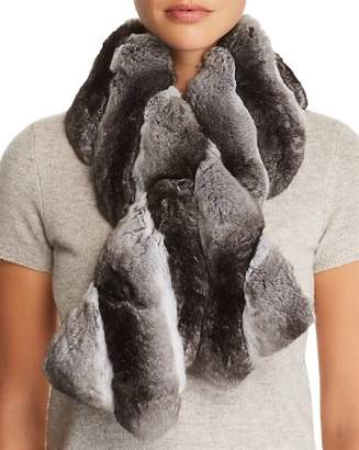 Maximilian Furs Chinchilla Fur Pull-Through Scarf - 100% Exclusive