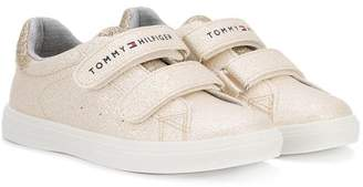 Tommy Hilfiger Junior touch strap glitter sneakers