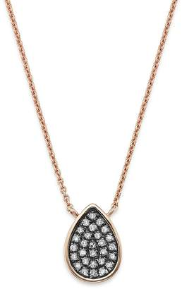Bloomingdale's Brown Diamond Teardrop Pendant Necklace in 14K Rose Gold, 0.11 ct. t.w. - 100% Exclusive