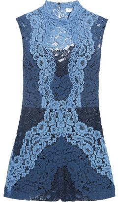 Sandro Cutout Corded Lace Playsuit $510 thestylecure.com