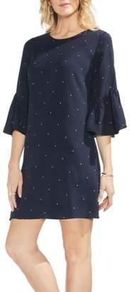Vince Camuto Soho Pin Dot Ruffle Sleeve Dress