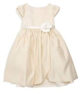 Little Girl's Sequined Capsleeve Dress