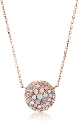 Fossil Pearl Disc Pendant Women's Necklace
