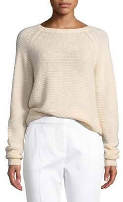 Max Mara Loose-Weave Powder Cashmere-Silk Sweater