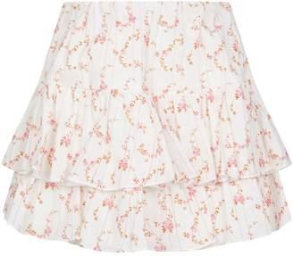 Caroline Constas Anabelle Floral Mini Skirt