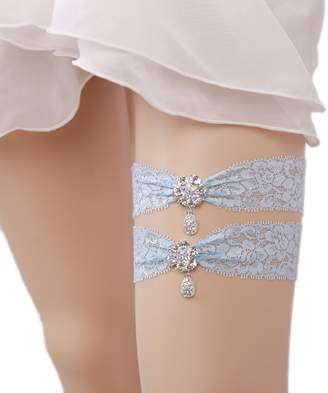 Bonus Life BonusLife Womens Wedding Bridal Garter Lace Navy Blue