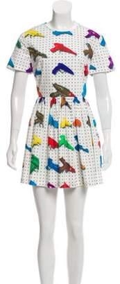 Jeremy Scott Printed Mini Dress White Printed Mini Dress