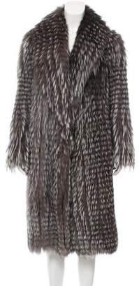 Pologeorgis Long Fox Fur Coat
