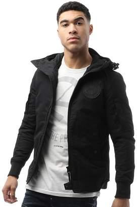 G Star G-STAR Mens Batt Hooded Lightweight Jacket Black