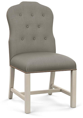 Bunny Williams Home Jack Side Chair - Gray Diamond Linen