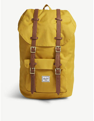 Herschel Yellow Woven Little America Canvas Backpack