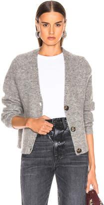 Ganni Soft Wool Knit Cardigan in Paloma Melange | FWRD