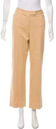 Loro Piana Mid-Rise Wide Leg Pants Tan Mid-Rise Wide Leg Pants