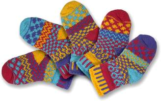 Solmate Socks Mismatched Baby socks, Two pairs with a spare, Newborn